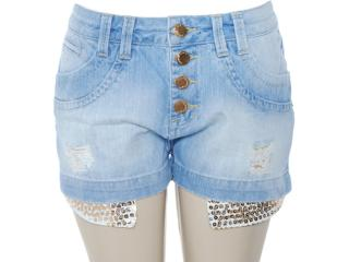 Short Feminino Lado Avesso 80237 Jeans - Tamanho Médio