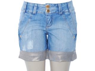 Short Feminino Lado Avesso 80383 Jeans - Tamanho Médio