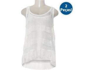 Blusa Feminina Lado Avesso 80403 Off White - Tamanho Médio