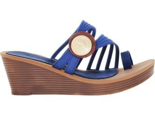 Tamanco Feminino Grendene Grendha 16357 Marrom/azul - Tamanho Médio