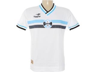 Camisa Masculina Grêmio C1061m Branco - Tamanho Médio