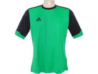Camiseta Masculina Adidas X27722 Verde/preto - Tamanho Médio