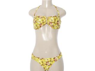 Biquíni Feminino Cia Maritima 11290 Floral Amarelo - Tamanho Médio
