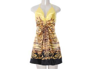 Vestido Feminino Moikana 8001 Amarelo - Tamanho Médio