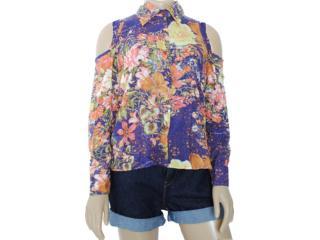 Camisa Feminina Moikana 8166 Florido - Tamanho Médio