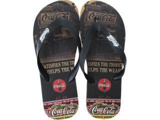 Chinelo Masculino Coca-cola Shoes Cc0254 Preto - Tamanho Médio