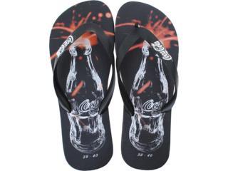 Chinelo Masculino Coca-cola Shoes Cc0187 Preto - Tamanho Médio