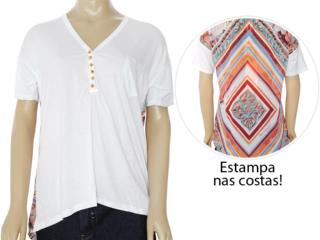Blusa Feminina Moikana 8127 Branco - Tamanho Médio