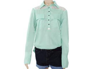 Camisa Feminina Moikana 8162 Verde - Tamanho Médio
