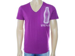 Camiseta Masculina Coca-cola Clothing 353203198 Roxo - Tamanho Médio