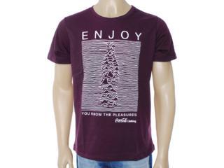 Camiseta Masculina Coca-cola Clothing 353203208 Uva - Tamanho Médio