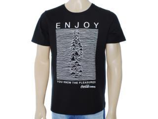 Camiseta Masculina Coca-cola Clothing 353203208 Preto - Tamanho Médio