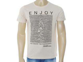 Camiseta Masculina Coca-cola Clothing 353203208 Bege - Tamanho Médio