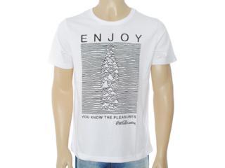 Camiseta Masculina Coca-cola Clothing 353203208 Branco - Tamanho Médio