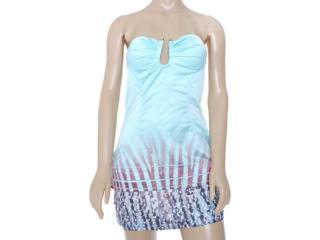 Vestido Feminino Moikana 8059 Acqua - Tamanho Médio