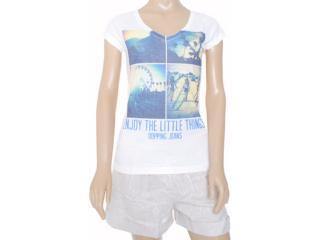 Blusa Feminina Dopping 015252541 Estampado Gelo - Tamanho Médio