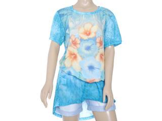 Blusa Feminina Dopping 015652623 Estampado Floral - Tamanho Médio