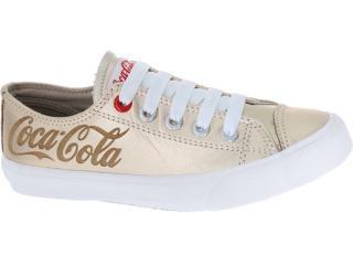 Tênis Feminino Coca-cola Shoes Cc0070 Ouro - Tamanho Médio