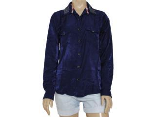 Camisa Feminina Moikana 8161 Azul - Tamanho Médio