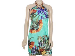 Vestido Feminino Lado Avesso 80525 Verde Estampado - Tamanho Médio