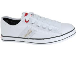 Tênis Feminino Coca-cola Shoes Cc0212 White - Tamanho Médio