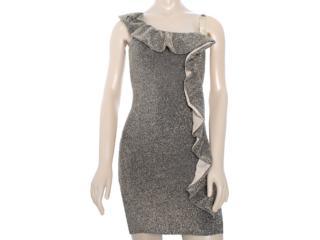 Vestido Feminino Lado Avesso 81521 Preto/ouro - Tamanho Médio