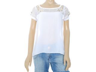 Blusa Feminina Lado Avesso 81415 Branco - Tamanho Médio