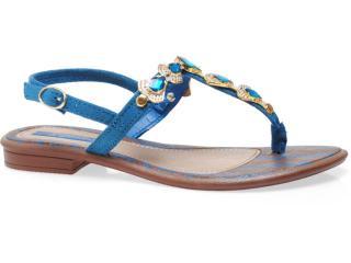 Sandália Feminina Grendene Grendha 16584 Marrom/azul/dourado - Tamanho Médio