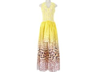 Vestido Feminino Moikana 8085 Amarelo - Tamanho Médio