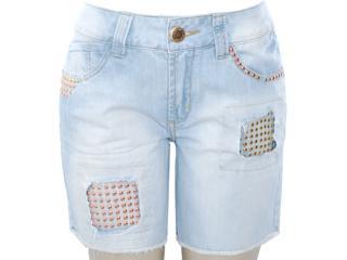 Bermuda Feminina Lado Avesso 81115 Jeans - Tamanho Médio