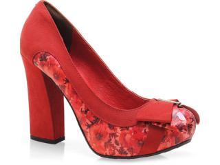 Sapato Feminino Tanara 3201 Carmim - Tamanho Médio