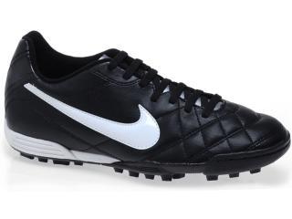 Tênis Masculino Nike 509040-010 Tiempo Rio tf Preto/branco - Tamanho Médio