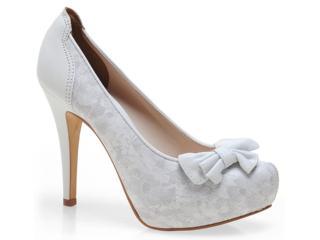 Sapato Feminino Tanara 3231 Branco - Tamanho Médio