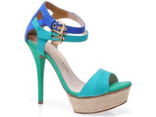 Sandália Feminina Via Marte 12-10909 Ciano/azul/verde - Tamanho Médio