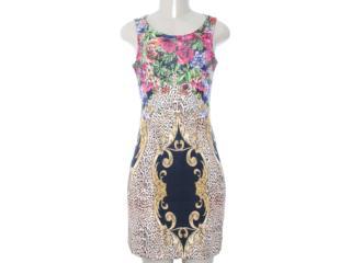 Vestido Feminino Intuição 122402 Estamapado Onca - Tamanho Médio