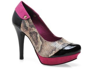 Sapato Feminino Tanara 3084 Pto/pink/natural - Tamanho Médio