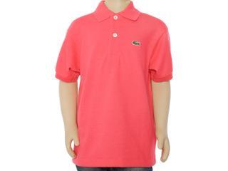 Camisa Polo Masc Infantil Lacoste L1812 Vermelho - Tamanho Médio