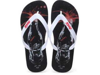 Chinelo Masculino Coca-cola Shoes Cces0187 Preto/branco - Tamanho Médio
