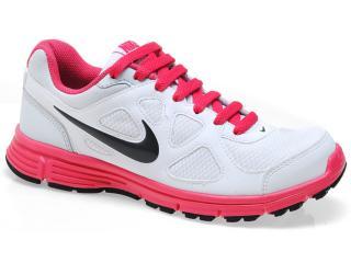 Tênis Feminino Nike 488151-104 Revolution Msl Branco/pink - Tamanho Médio