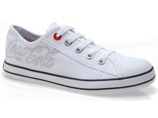 Tênis Feminino Coca-cola Shoes Cc0160 Branco - Tamanho Médio