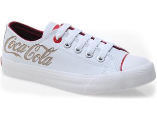 Tênis Feminino Coca-cola Shoes Cc0002 Branco/vermelho - Tamanho Médio
