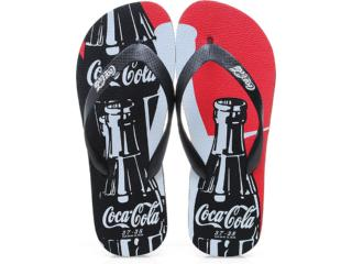 Chinelo Masculino Coca-cola Shoes Cc0193 Preto - Tamanho Médio