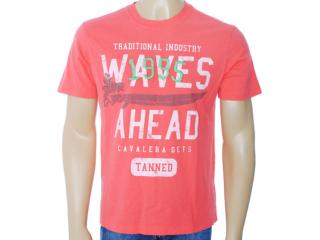 Camiseta Masculina Cavalera Clothing 01.01.6220 Coral - Tamanho Médio