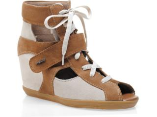 Sneaker Feminino Quiz 69906 Torrone/bege - Tamanho Médio