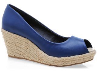 Peep Toe Feminino Brenners 9006 Azul - Tamanho Médio