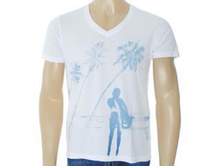 Camiseta Masculina Dzarm 6byp Noa10 Branco - Tamanho Médio