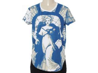 Blusa Feminina Cavalera Clothing 09.01.2750 Estampado Marinho - Tamanho Médio