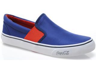 Tênis Masculino Coca-cola Shoes Cc0217 Navy/laranja - Tamanho Médio