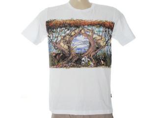 Camiseta Masculina Cavalera Clothing 01.01.6458 Branco - Tamanho Médio