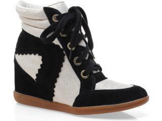 Sneaker Feminino Hetane 1201201 Preto/off White - Tamanho Médio
